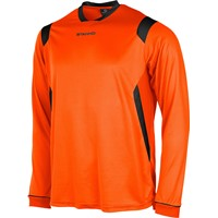 Stanno Arezzo Voetbalshirt Lange Mouw - Oranje / Zwart