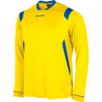 Picture of Stanno Arezzo Voetbalshirt Lange Mouw - Geel / Royal