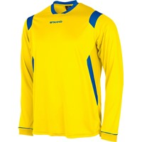 Stanno Arezzo Voetbalshirt Lange Mouw - Geel / Royal