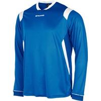 Stanno Arezzo Voetbalshirt Lange Mouw - Royal / Wit