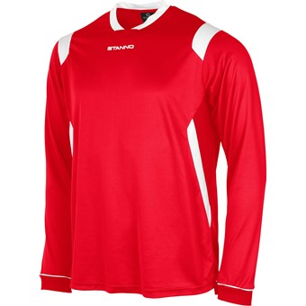 Picture of Stanno Arezzo Voetbalshirt Lange Mouw Kinderen - Rood / Wit