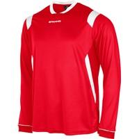 Stanno Arezzo Voetbalshirt Lange Mouw - Rood / Wit