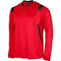 Stanno Arezzo Voetbalshirt Lange Mouw Kinderen - Rood / Zwart