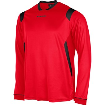 Picture of Stanno Arezzo Voetbalshirt Lange Mouw - Rood / Zwart