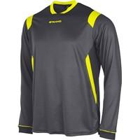 Stanno Arezzo Voetbalshirt Lange Mouw - Antraciet / Fluogeel