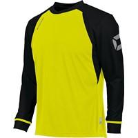 Stanno Liga Voetbalshirt Lange Mouw Kinderen - Fluogeel / Zwart