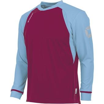 Picture of Stanno Liga Voetbalshirt Lange Mouw - Bordeaux / Hemelsblauw
