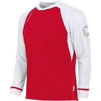Stanno Liga Voetbalshirt Lange Mouw Kinderen - Rood / Wit
