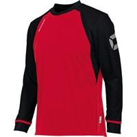 Stanno Liga Voetbalshirt Lange Mouw Kinderen - Rood / Zwart