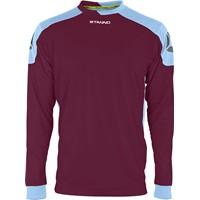 Stanno Campione Voetbalshirt Lange Mouw - Bordeaux / Lichtblauw