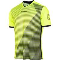 Stanno Rush Shirt Korte Mouw - Fluogeel / Zwart