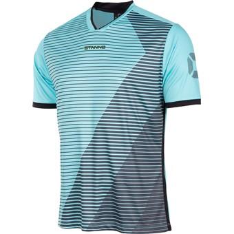 Picture of Stanno Rush Shirt Korte Mouw - Aqua Blue / Zwart