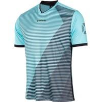 Stanno Rush Shirt Korte Mouw - Aqua Blue / Zwart