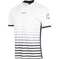 Stanno Fusion Shirt Korte Mouw - Wit / Zwart