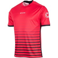 Stanno Fusion Shirt Korte Mouw - Rood / Zwart