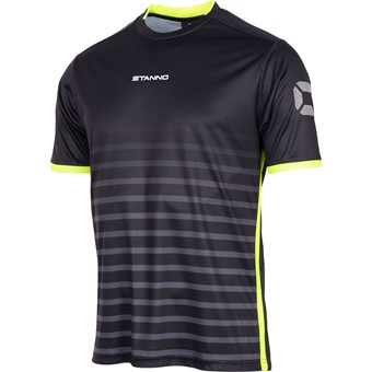 Picture of Stanno Fusion Shirt Korte Mouw - Zwart / Fluogeel