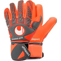 Uhlsport Aerored Absolutgrip Finger Surround Keepershandschoenen - Donkergrijs / Fluorood / Wit