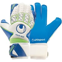 Uhlsport Aquasoft Keepershandschoenen - Wit / Blauw / Fluo Groen